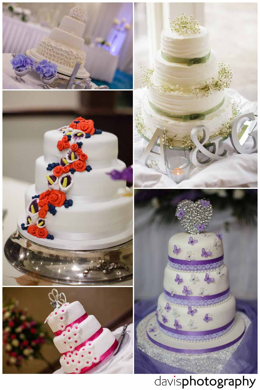 wedding cake with colours