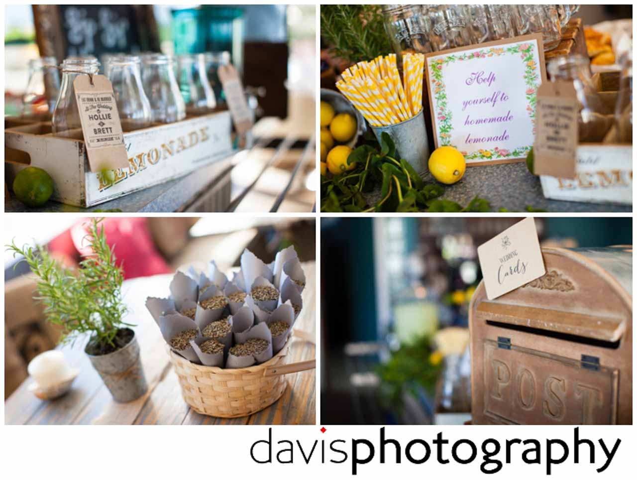 bright colourful wedding theme