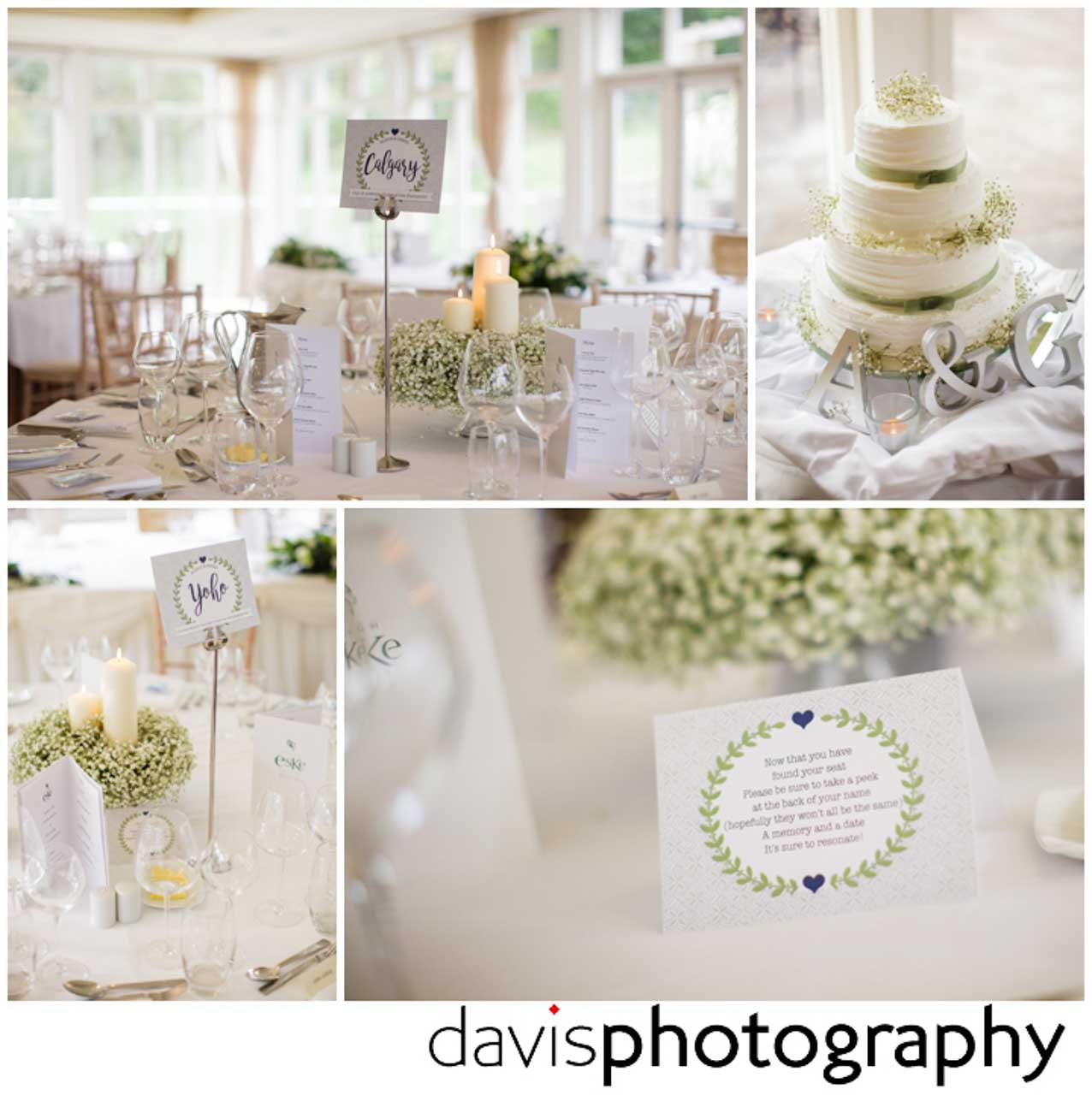 table decor for wedding