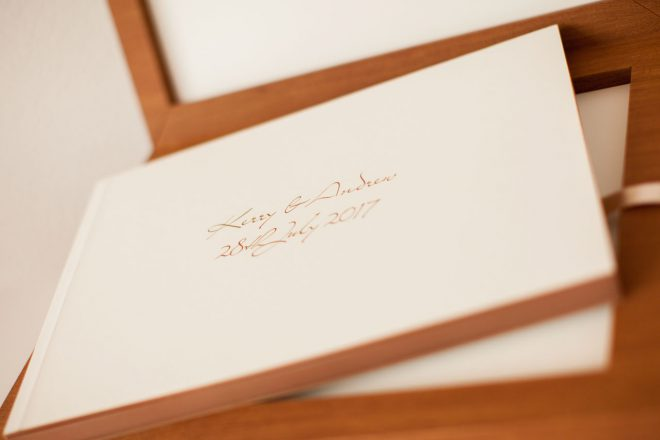 wedding album with case to match