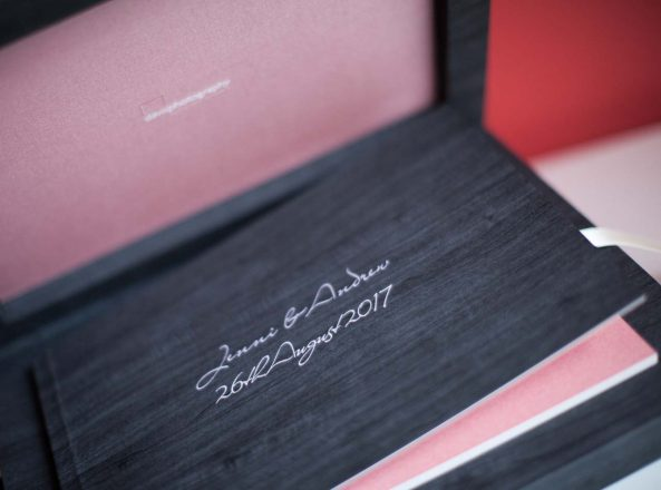 wedding book and case